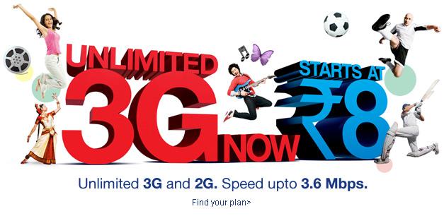 3G Internet Connection Aircel Banner