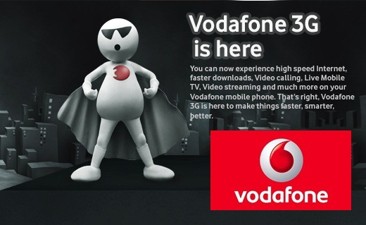 3G Internet Connection Vodafone Banner