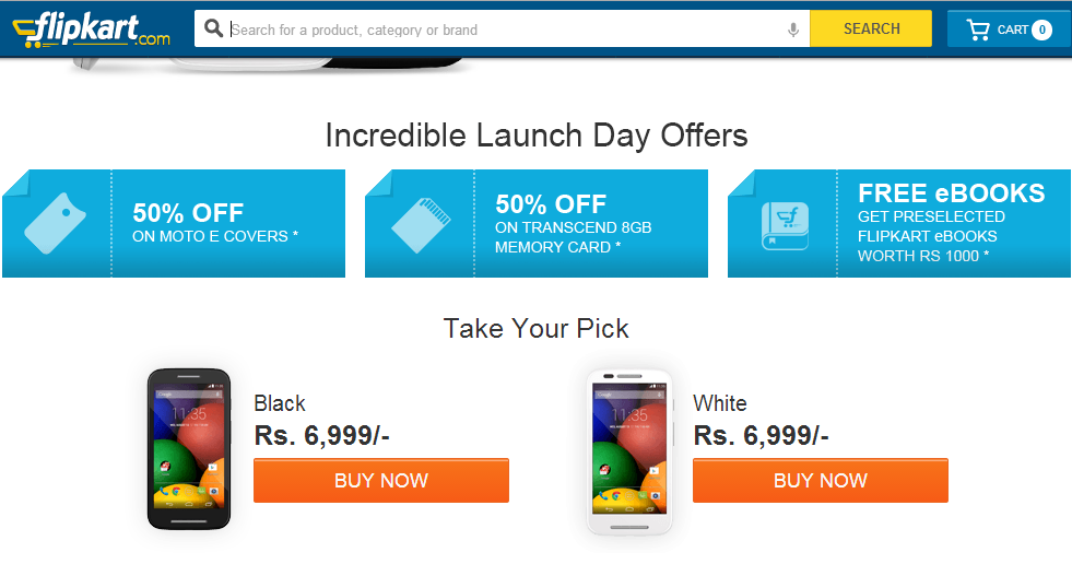 How to buy Moto E On Flipkart - Step 2