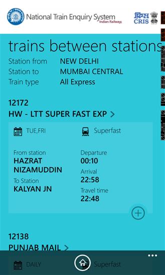 IRCTC Train Enquiry App Free Download for Windows Phones