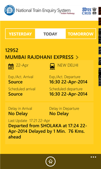 IRCTC App for Train Status