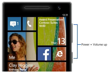 How to Take screenshot On windows Phones
